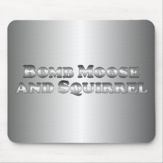Bomb Moose and Squirrel - Basic Mouse Pad