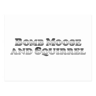 Bomb Moose and Squirrel - Basic Postcard