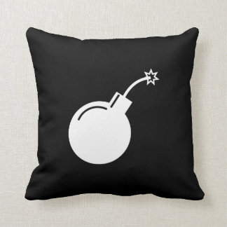 Bomb Pictogram Throw Pillow