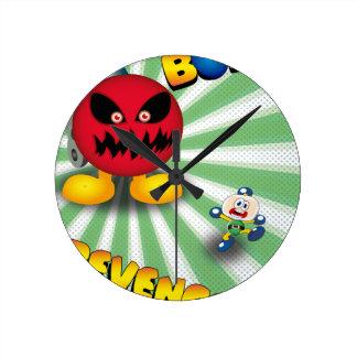 Bomb Revenge Round Clock
