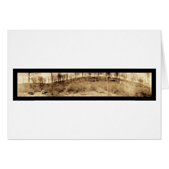 Bomb Shelters WWI Photo 1918 Card