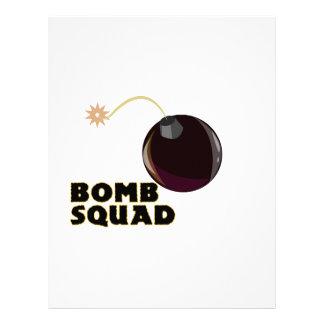 Bomb Squad Letterhead Design