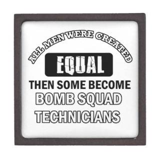 Bomb Squad Technician Job designs Premium Jewelry Box
