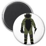 Bomb Suit 2 Inch Round Magnet