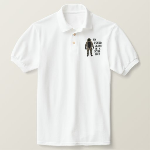 Bomb Suit Embroidered Polo Shirt