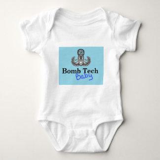bomb tech baby blue baby bodysuit