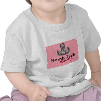 bomb tech baby pink t shirt