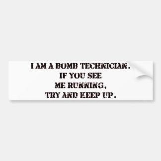 bomb tech bumper sticker