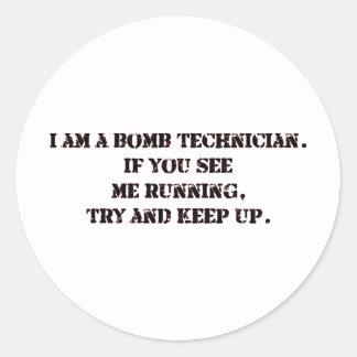 bomb tech classic round sticker