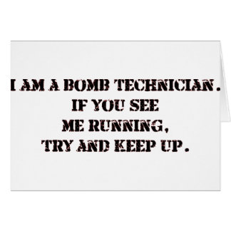 bomb tech greeting card