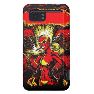Bomba atómica del chica del diablo carcasa para HTC vivid / raider 4G