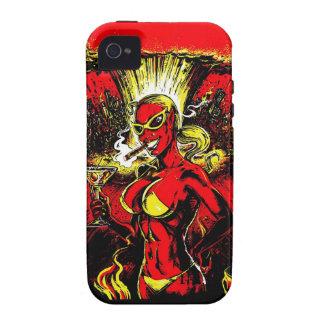 Bomba atómica del chica del diablo carcasa vibe iPhone 4