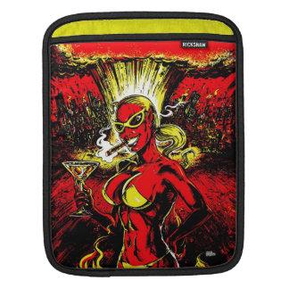 Bomba atómica del chica del diablo funda para iPads