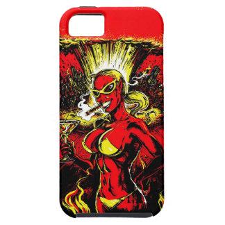 Bomba atómica del chica del diablo funda para iPhone SE/5/5s
