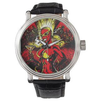 Bomba atómica del chica del diablo reloj de mano