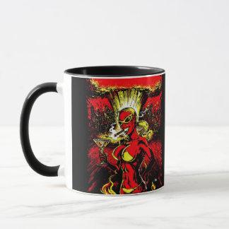 Bomba atómica del chica del diablo taza