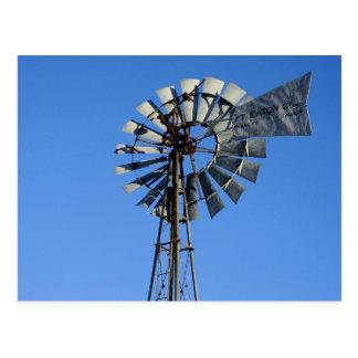 Bomba de agua conducida viento tarjeta postal
