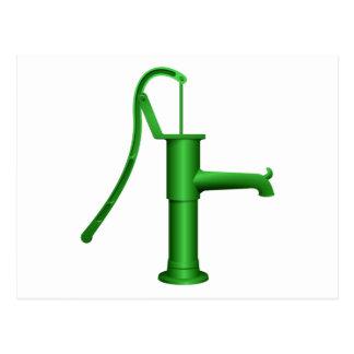 Bomba de agua verde tarjetas postales