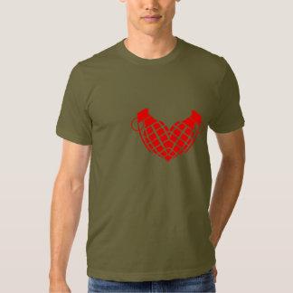 Bomba de amor, corazón de la granada poleras