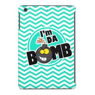 ¡Bomba de DA!  Aguamarina Chevron verde Fundas De iPad Mini