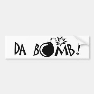 ¡Bomba de DA! Etiqueta De Parachoque
