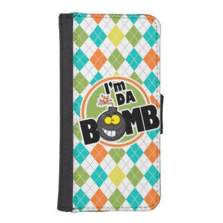 ¡Bomba de DA!  Modelo colorido de Argyle Billetera Para Teléfono