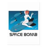 Bomba de espacio tarjeta postal