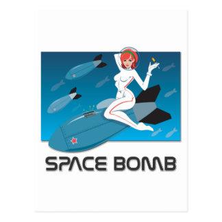 Bomba de espacio tarjetas postales