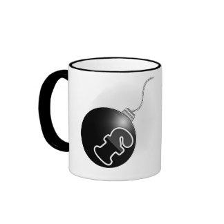 Bomba de F (añada su propio texto!) Taza De Café