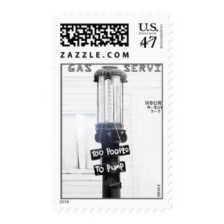 Bomba de gas roja del vintage de la sellos postales