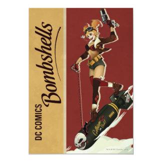 Bomba de Harley Quinn Invitación 12,7 X 17,8 Cm
