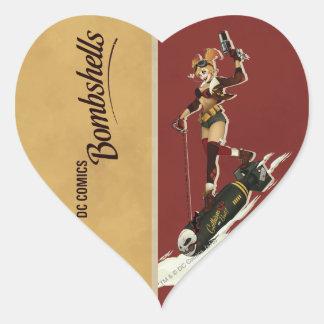 Bomba de Harley Quinn Pegatina En Forma De Corazón