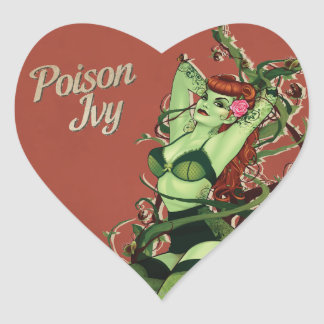 Bomba de la hiedra venenosa pegatina en forma de corazón