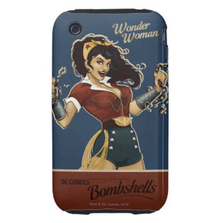 Bomba de la Mujer Maravilla iPhone 3 Tough Carcasa