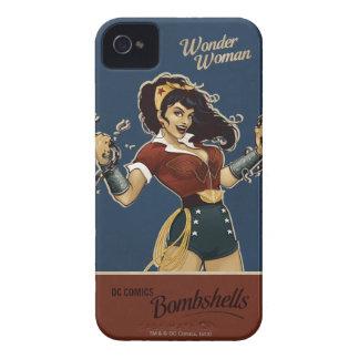Bomba de la Mujer Maravilla iPhone 4 Protector