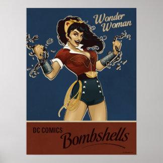 Bomba de la Mujer Maravilla Poster