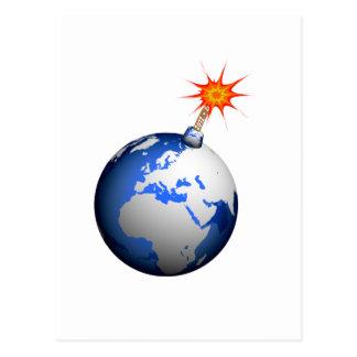 ¡Bomba de la tierra! Postal