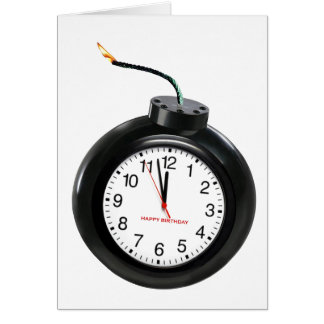 Bomba de relojería tarjeta de felicitación