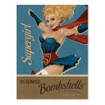 Bomba de Supergirl Tarjetas Postales