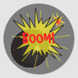 Bomba del auge pegatinas redondas