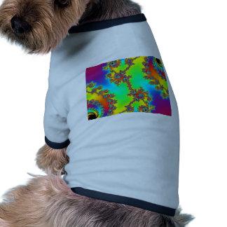 Bomba del color camiseta con mangas para perro