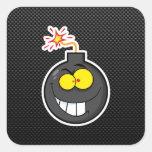 Bomba del dibujo animado; Liso Pegatina Cuadradas Personalizadas