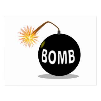 Bomba del dibujo animado postal