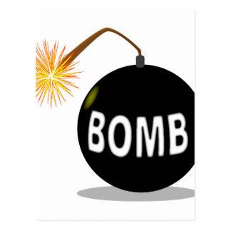Bomba del dibujo animado postales