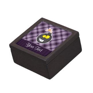 Bomba del dibujo animado Púrpura Caja De Recuerdo De Calidad