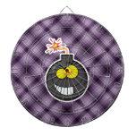Bomba del dibujo animado; Púrpura Tablero De Dardos