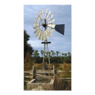 Bomba del molino de viento. El condado de Seminole Fotografias