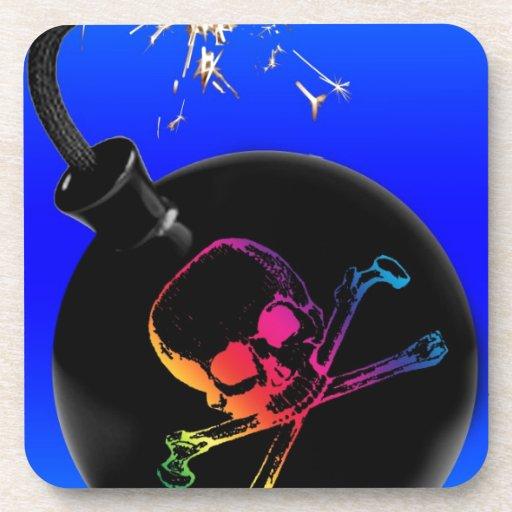 bomba del pirata posavasos de bebidas