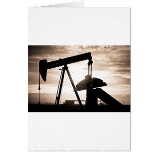 Bomba del pozo de petróleo felicitacion