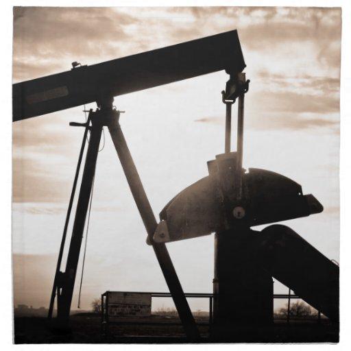 Bomba del pozo de petróleo servilleta de papel